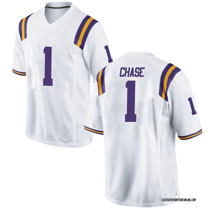 Chasen Hines LSU Tigers Football Jersey - Purple